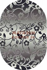 oval silver d214 gray