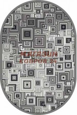 oval silver d239 gray