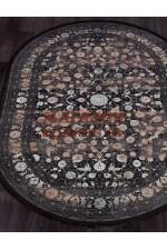 Бамбуковый ковер Muskat 9044 Черный овал
