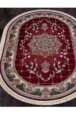 Иранский ковер Tehran 7586 Красный овал
