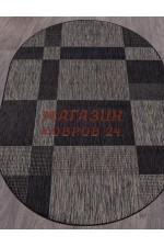 Овальный ковер Vegas 005 Темно-серый-черный овал