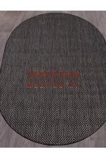 Овальный ковер Vegas 006 Темно-серый-черный овал