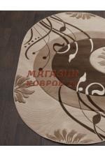 Российский ковер Mega carving 4780 Бежевый овал