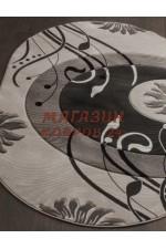 Российский ковер Mega carving 4780 Серый овал