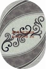 Российский ковер Mega carving 4797 Серый овал