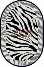 Российский ковер Mega carving 8316 Черный овал