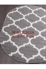 Российский ковер Mega carving 422 Серый овал