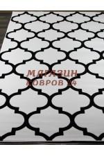 Российский ковер Mega carving 422 Белый