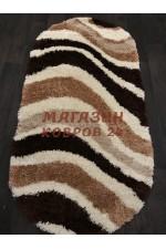 Российский ковер Shaggy ultra 607 Бежевый-коричневый овал