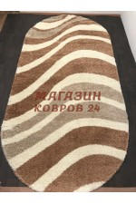 Российский ковер Shaggy ultra 607 Бежевый овал