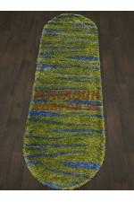 Ковер с высоким ворсом Shaggy ultra 608 Зеленый-голубой овал