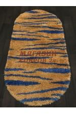 Ковер с высоким ворсом Shaggy ultra 608 Желтый-голубой овал