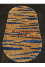 Российский ковер Shaggy ultra 608 Желтый-голубой овал