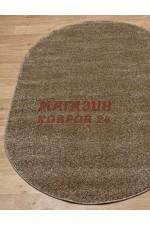 Однотонный ковёр Platinum 600 Темно-бежевый овал
