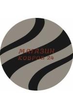 Однотонный ковёр Platinum 617 Серый-черный круг