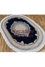 Овальный ковер Shimal 9071 Синий-Крем овал